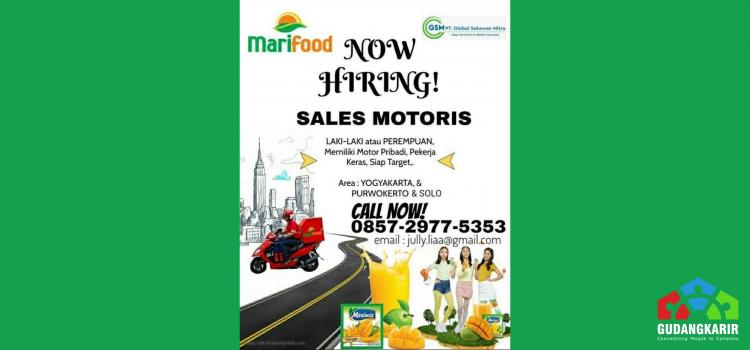 Lowongan Sales Motoris Area Marifood